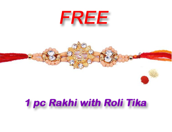 1pc Rakhi with Roli Chawal