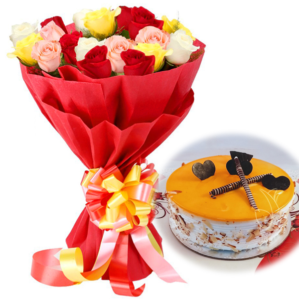 Mix Rose Mango Cake