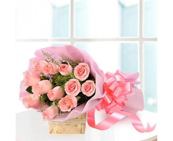 Baby Pink Rose Bunch