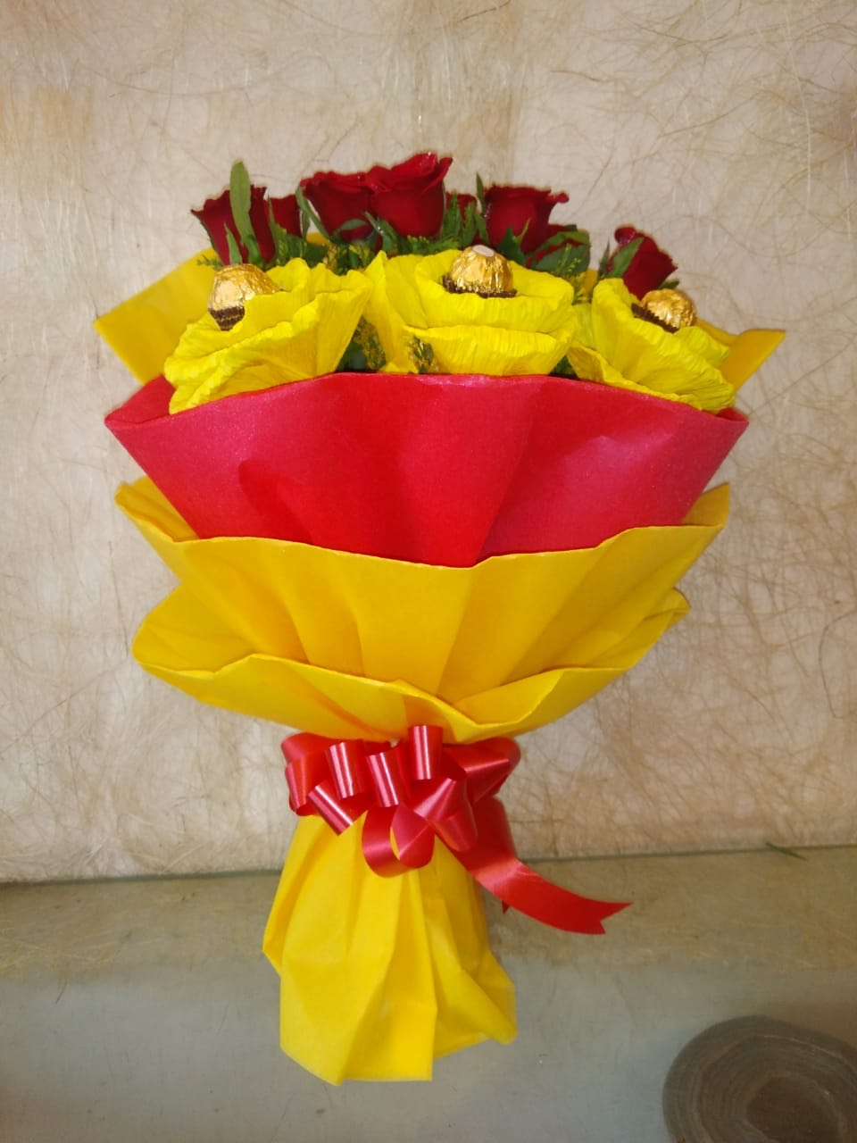 Red Roses Ferrero Rocher Bunch