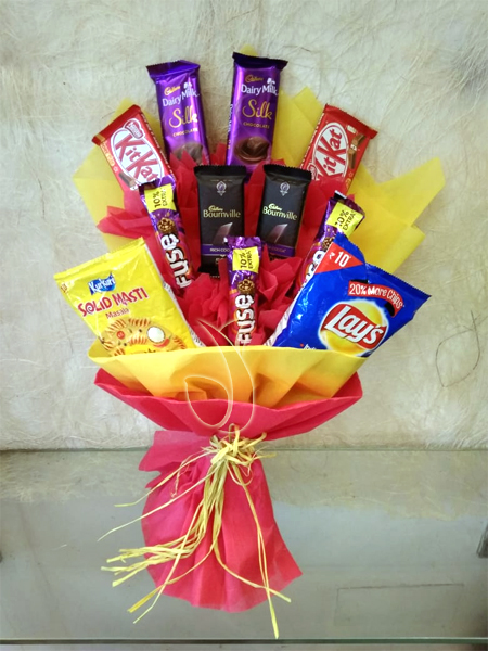 Flowers Delivery in IndoreChocolate Bouquet