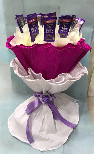 Flowers Delivery in CalcuttaChocolate Bouquet in Paper Wrapping