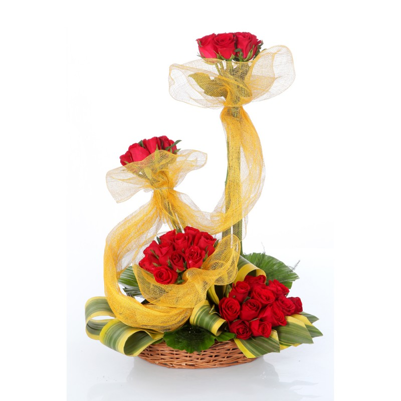 Arrangement of 75 Red Roses