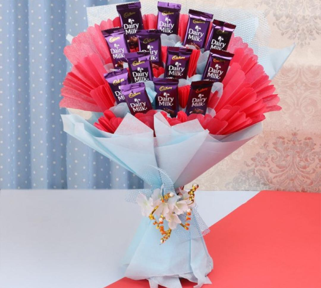 Flowers Delivery in FaridabadBouquet of Dairy Milk Chocolate