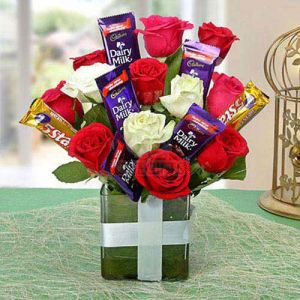 Chocolate Rose Arrangement