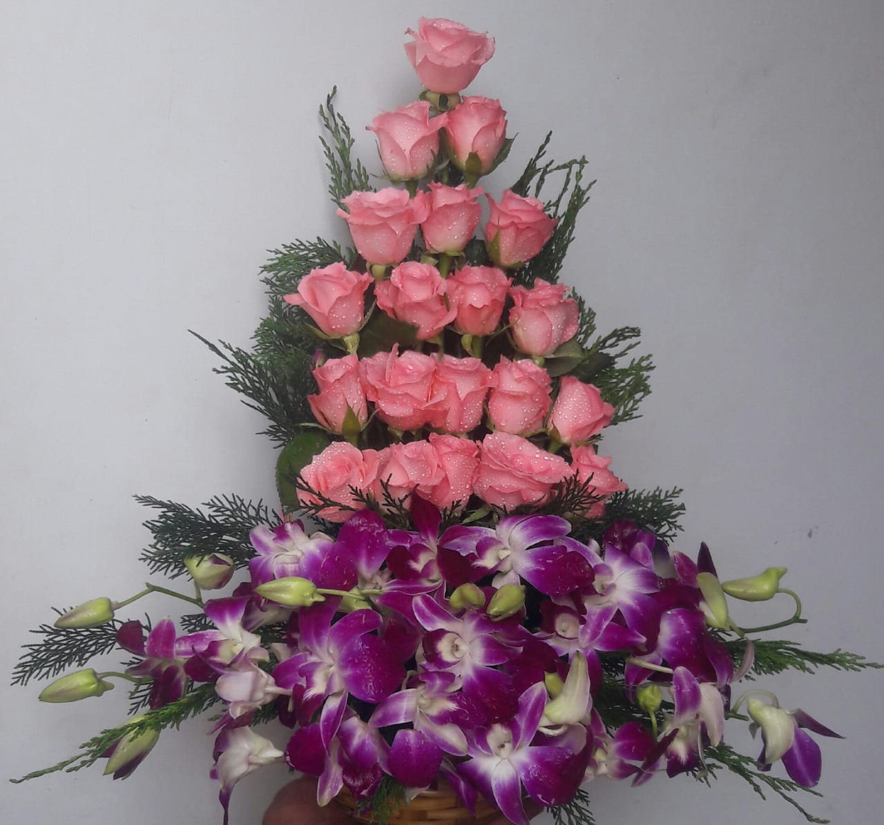 Basket of Rose & Orchid
