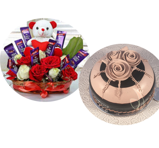 Flowers Delivery in GwaliorArrangement & Cake