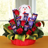 Red Rose Chocolate Arrangement