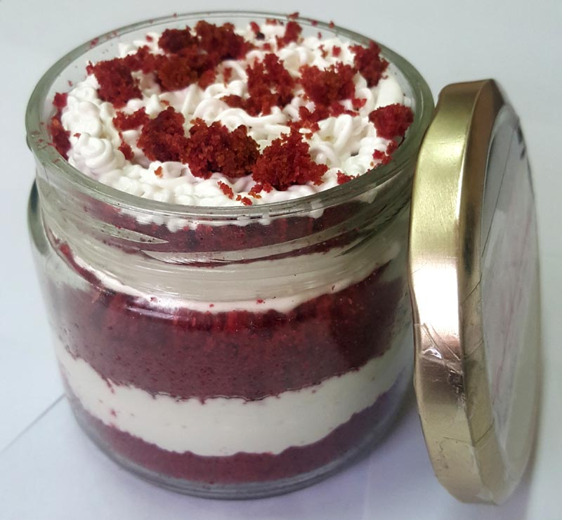 Red Velvet Jar Cake (Only For Delhi)