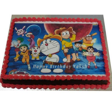 1KG Doremon Nobita Photo Cake