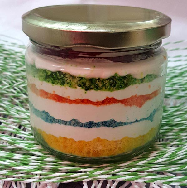Rainbow Jar Cake (Only For Delhi)