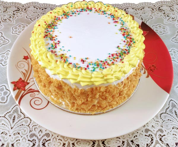 Butter Scotch Crunchy Cake