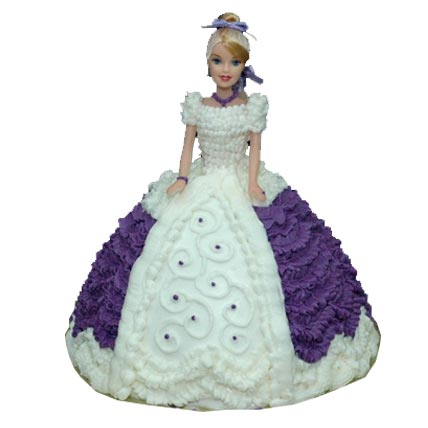 2kg Purple Dress Doll Cake