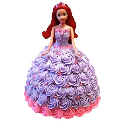 Barbie Doll  in Roses Cake 2kg