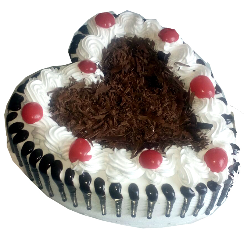 1Kg Black Forest Heart Cake