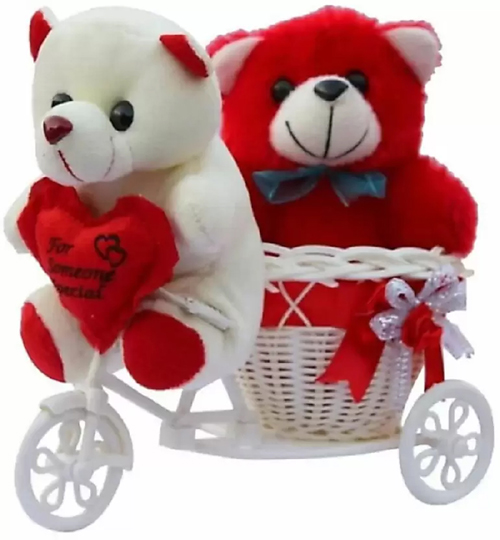 2 Cute Teddy in Riksha