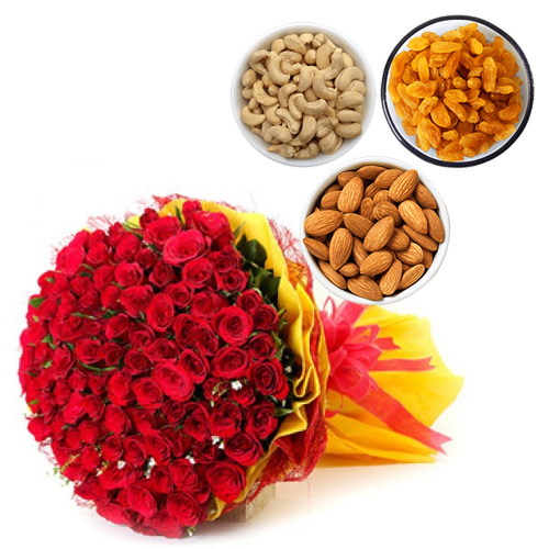 Flowers Delivery in ShimlaRoses & Dry Fruit