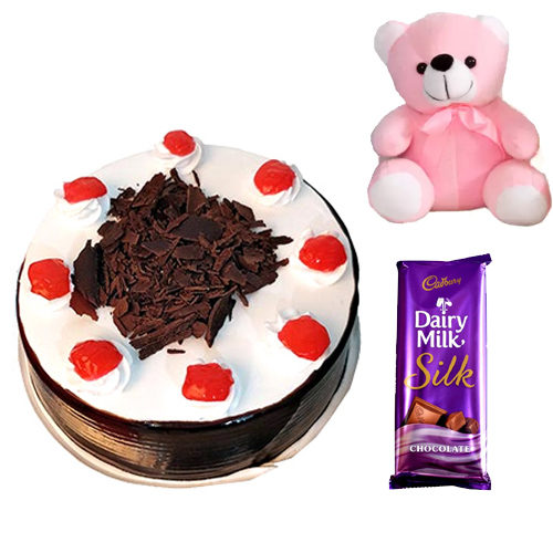 Cake & Teddy & Chocolate