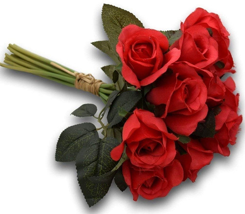 12 Artificial Red Roses Bunch (Only For Delhi)