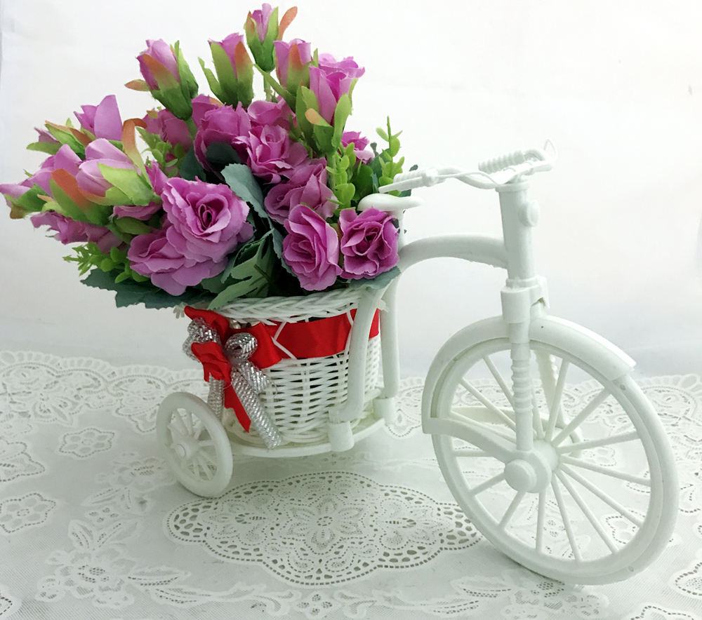 30 Mini Purple Flowers in Riksha (Only For Delhi)