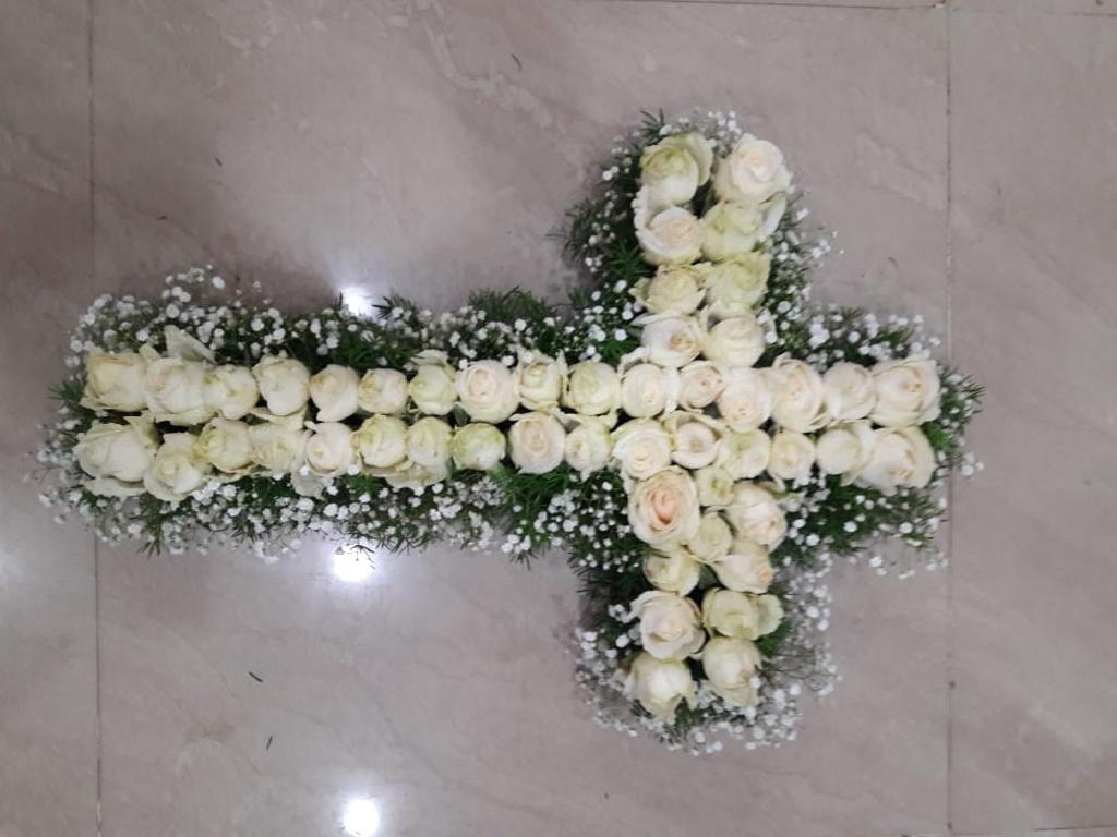 Sympathy Cross Arrangement