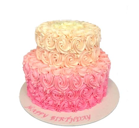 3 kg Two Tier Roses Design Cake