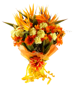 Flowers Delivery in BhilaiHand tied bunch of 30 exotic mix flowers