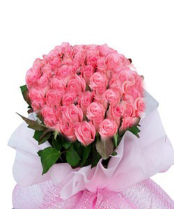 Hand Bunch of 30 Pink roses