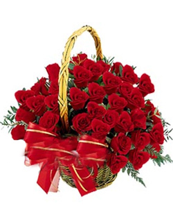 Round Basket of 40 Rosesdelivery in Patna
