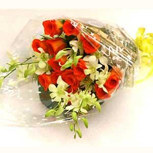 Flowers Delivery in BhilaiBunch of Roses and Orchids