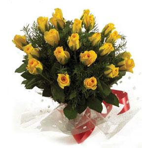 Flowers Delivery in VizagA Bunch of 20 Yellow Roses
