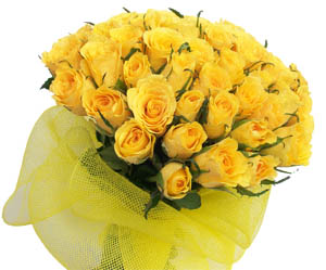 Flowers Delivery in BhilaiA Bunch of 50 Yellow Roses