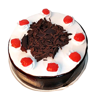 Flowers Delivery in LucknowBlack Forest Cake Eggless