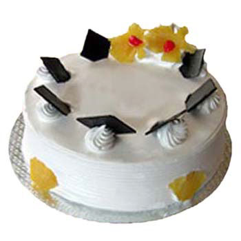 Flowers Delivery in IndorePineapple Delight Cake Eggless