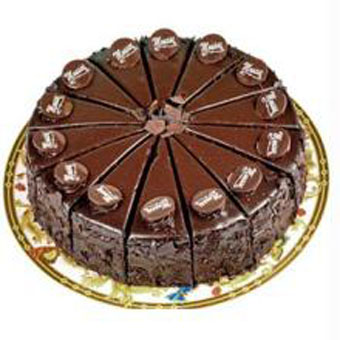 Flowers Delivery in Meerut1kg Rich Chocolate cake (Limited cities)