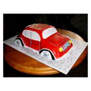 Flowers Delivery in Gwalior3kg Car Shape Cake