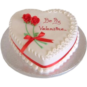 Flowers Delivery in Calcutta1.5 kg Heart Shape Cake