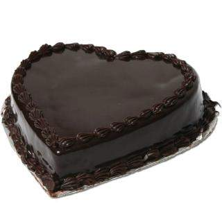 Flowers Delivery in Jodhpur1kg Heart Shape Chocolate Truffle Cake