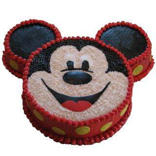 Flowers Delivery in Gwalior3kg Micky Mouse Face Cake