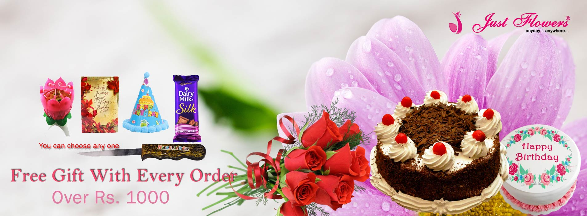 Just flowers online flowers delivery in india florist in india birthday izmirmasajfo